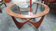 Sale 8395 - Lot 1038 - Round G-Plan Atmos Coffee Table with Glass Top