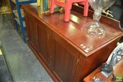 Sale 8383 - Lot 1476 - Timber Credenza with Three Doors
