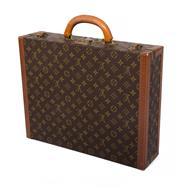 Sale 8522A - Lot 49 - A vintage French Louis Vuitton President briefcase business bag, 45 x 35 x 11 cm.