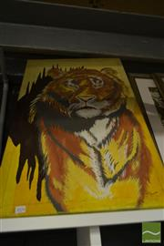 Sale 8537 - Lot 2076 - Mario Covacevic, Tiger, acrylic on canvas, 85 x 53cm, signed lower right