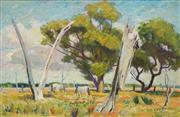 Sale 8657A - Lot 5089 - Edmund Arthur Harvey (1907 - 1994) - White Horses, Liverpool Plains 50 x 75cm