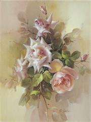 Sale 8738 - Lot 596 - Jill Kirstein (1938 - ) - Pink Splendor 48.5 x 38.5cm