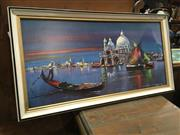 Sale 8779 - Lot 2057 - Retro Print of Boats on Water By Harry Linkler