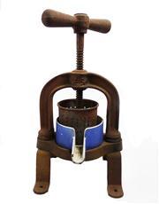 Sale 8828B - Lot 19 - An antique French cast iron citrus press approx. 35 x 17 cm