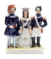 Sale 8887 - Lot 55 - A large Staffordshire group of monarchs from Turkey, England and France