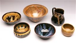 Sale 9104 - Lot 47 - A Collection of studio pottery inc signed examples