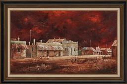Sale 9155 - Lot 2046 - STUART MCKENZIE CULLEN (1933 - ) South Australian Landscape oil on canvas laid on board (A.F - minor crazing and foxing) 44.5 x 74.5...