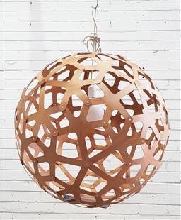 Sale 9134 - Lot 1013 - Coral pendant light by David Trubridge (d:79cm)