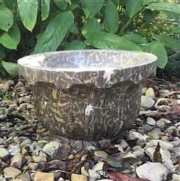 Sale 9175G - Lot 48 - Carved Marble Planter . General Wear.Size:38cm D x 26 cm H.General Wear