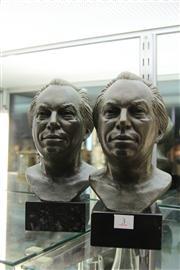 Sale 8327 - Lot 3 - Bronze Signed Busts of Harold Holt