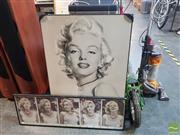 Sale 8552 - Lot 2058 - Marilyn Monroe (2) Photographic Print and Poster; 90 x 60cm; 30.5 x 92cm (frame sizes)