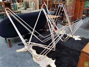 Sale 8625 - Lot 1091 - Set of Six Butterfly Chair Frames -