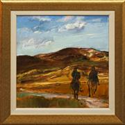 Sale 8655 - Lot 2013 - Russell Hollings (1948 - ) - The Riders, Tuscany 58 x 58cm