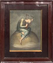 Sale 8682 - Lot 2084 - C19th hand-coloured chromolithograph The Dreamer -
