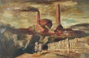 Sale 8781 - Lot 535 - Francis Lymburner (1916 - 1972) - Brickwork, 1947 39 x 61.5cm