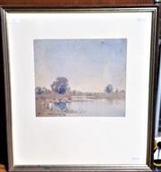 Sale 9058 - Lot 2017 - William Montague Whitney (c1880-1948) - Pastoral Scene frame: 48 x 43 cm