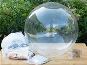 Sale 9066H - Lot 189 - A glass spherical pendant lamp as new in box. H 39cm.