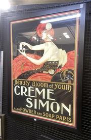 Sale 9091 - Lot 2027 - Emilo Vila Creme Simon poster (reproduction) 119 x 91 cm (frame)