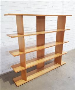 Sale 9134 - Lot 1038 - Modern open bookshelf by Conran (h:180 x w:155 x d:30:cm)