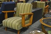 Sale 8287 - Lot 1052 - Korody Pair of Upholstered Armchairs