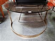 Sale 8476 - Lot 1013 - Pair of Retro Glass Side Tables