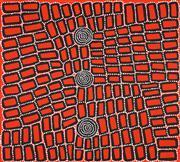 Sale 8583 - Lot 550 - Walala Tjapaltjarri (1960 - ) - Tingari 88 x 98cm