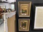 Sale 8927 - Lot 2079 - Pair James Croft, Landscapes, Oils, Both 13.5x8.5cm
