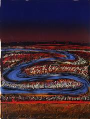 Sale 9032A - Lot 5012 - Sandra Leveson (1944 - ) - Nocturne, 1995 120 x 80 cm (sheet)