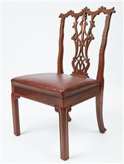 Sale 9080J - Lot 12 - A set of 6 oversized antique superbly carved mahogany dining chairs matching the previous pair of elbow chairs C: 1900s. These Chip...