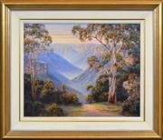 Sale 8408 - Lot 524 - John Bradley (1945 - ) - Grose Valley Solitude 59 x 73.5cm