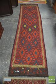 Sale 8431C - Lot 4 - Morocco Kilim Runner 300cm x 80cm