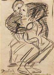 Sale 8633 - Lot 567 - Ernest Barlach (1870 - 1938) - Family 27.5 x 20cm