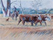 Sale 8677B - Lot 540 - Artist Unknown, The Herdsmen, acrylic on canvas, 91 x 122cm