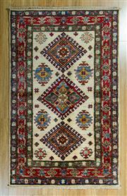Sale 8717C - Lot 27 - Afghan kazak 135cm x 85cm