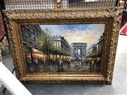 Sale 8819 - Lot 2043 - Parisian Street Scene by an Unknown Artist, 91 x 121cm (frame)