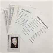 Sale 8893M - Lot 84 - Collection of Equipment Lists and Requirements for Jimmy Barnes Tour 1998