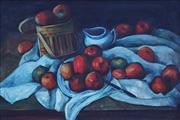 Sale 8992A - Lot 5022 - Artist Unknown - Red & Green Apples 44 x 66 cm (frame: 60 x 82 x 4cm)