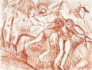 Sale 9047 - Lot 509 - Arthur Boyd (1920 - 1999) - Expulsion, Garden of Eden 25 x 33 cm (frame: 56 x 74 cm)