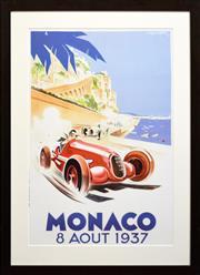 Sale 8309A - Lot 11 - Geo Ham (1900 - 1972) - MONACO: 8 AOUT 1939 91 x 60cm