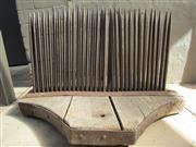 Sale 8402B - Lot 65 - C19th Wool Comb on Oak Base