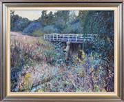 Sale 8408 - Lot 576 - Phyllis Waterhouse (1917 - 1989) - Brougham St Bridge 69 x 89cm