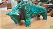 Sale 8409 - Lot 1066 - Jema Holland Pottery Bull
