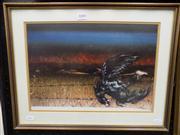 Sale 8437 - Lot 2008 - Tom Gleghorn (1925 - ) - Untitled, 1981 (Bird on Wire) 27 x 39.5cm
