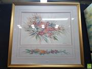 Sale 8573 - Lot 2014 - Artist Unknown - Australian Wildflowers 70.5 x 77.5cm (frame)