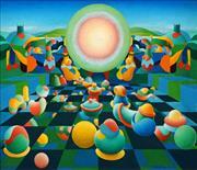 Sale 8633 - Lot 598 - Jeremy Gordon (1947 - ) - Allegory 1974 60 x 60cm