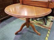 Sale 8657 - Lot 1016 - Pine Breakfast Table on Pedestal Base