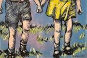 Sale 8657E - Lot 5042 - David Bromley (1960 - ) - Holding Hands 76 x 112cm (frame: 82 x 118cm)