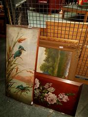 Sale 8668 - Lot 2062 - Group of 4 late c19th / early c20th Original Paintings by various artists, framed and various sizes
