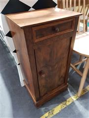 Sale 8774 - Lot 1013 - Late 19th Century French Walnut Bedside Cabinet, fitted with a drawer & panel door