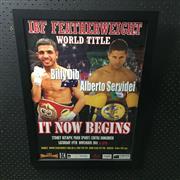 Sale 8828 - Lot 2059 - IBF Featherweight World Title Fight, 19th November 2011, Billy Dib vs Alberto Servidei, framed